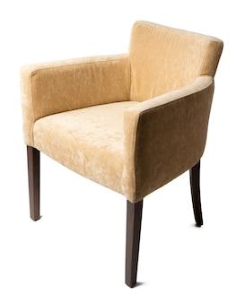 Nowoczesny, klasyczny fotel na białym tle