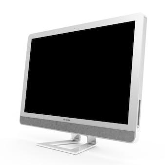 Nowoczesny Komputer Typu Wszystko W Jednym Na Białym Tle Premium Zdjęcia