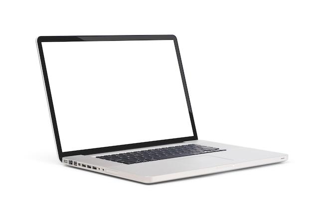 Nowoczesny laptop na białym tle