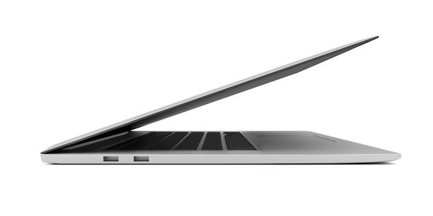 Nowoczesny laptop slim na białym tle