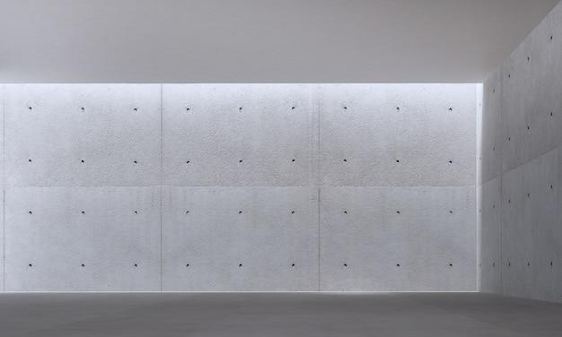 Nowoczesny loft z pustym salonem i betonową ścianą