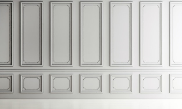 Nowoczesny luksusowy wystrój wnętrz salonu i pusty biały wzór tła ściany