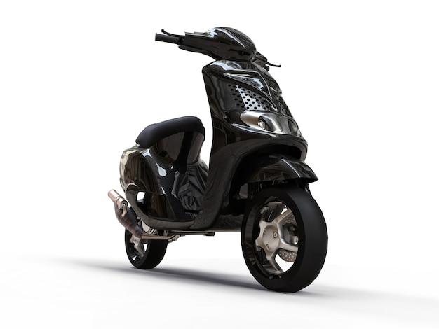 Nowoczesny miejski motorower czarny