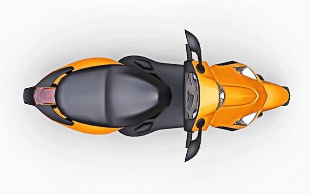 Nowoczesny miejski motorower pomarańczowy