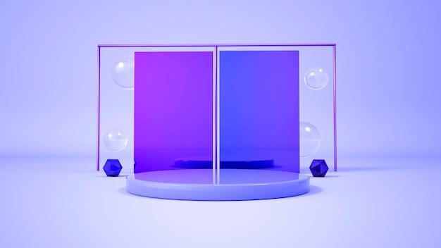 Nowoczesny, minimalistyczny wyświetlacz na podium. ilustracja 3d