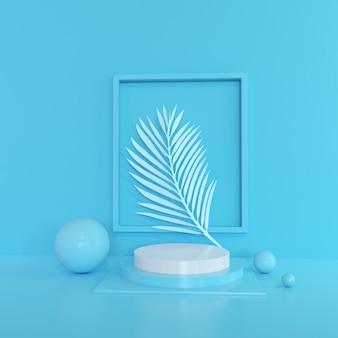 Nowoczesny minimalistyczny wyświetlacz na podium lub prezentacja.