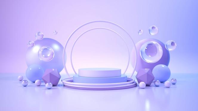 Nowoczesny minimalistyczny wyświetlacz na podium.
