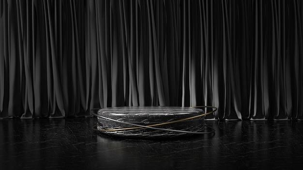 Nowoczesny minimalistyczny wyświetlacz na podium