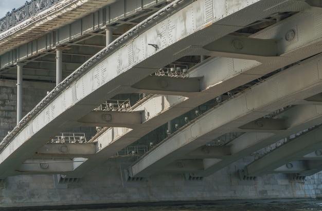 Nowoczesny most żelbetowy, widok z dołu