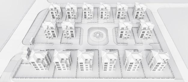 Nowoczesny piękny dom. domek dla dużej rodziny. ilustracja 3d.