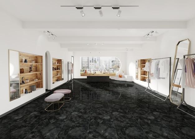 Nowoczesny projekt sklepu z ceramiczną podłogą