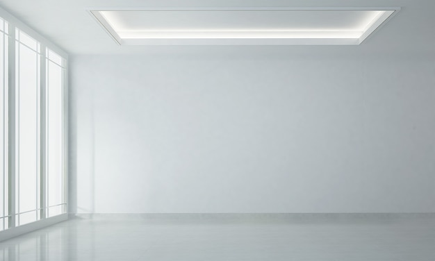 Nowoczesny, przytulny biały salon wnętrz i biała pusta ściana tekstura tło