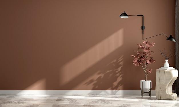 Nowoczesny, przytulny dom i dekoracja oraz pusty wystrój wnętrz salonu i tło ściany