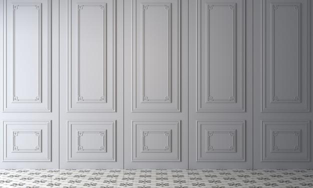Nowoczesny, przytulny makieta wystrój wnętrz pustego salonu i białej ściany tekstura tło