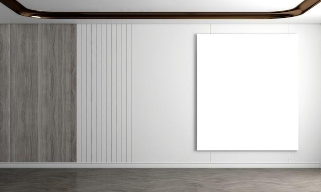 Nowoczesny, przytulny salon i białe i drewniane ściany z teksturą tła wnętrza