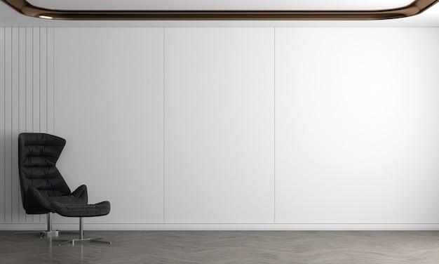 Nowoczesny, przytulny salon i pusta ściana tekstury tła wnętrza