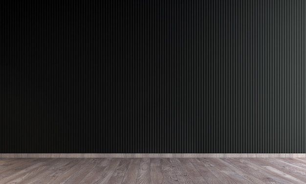 Nowoczesny salon pusty wystrój wnętrz i czarne ściany tekstura tło