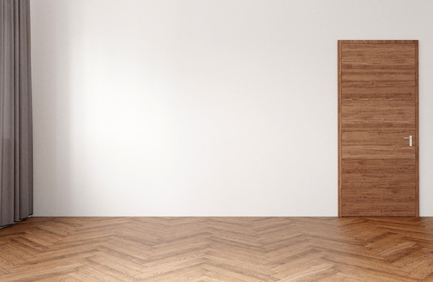 Nowoczesny wystrój salonu z jasnego drewna