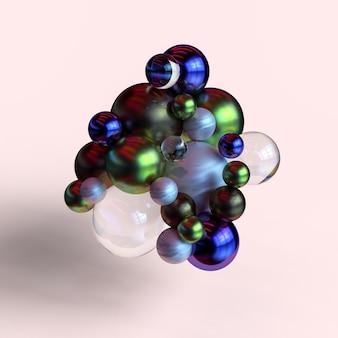 Nowoczesny wyświetlacz abstrakcyjne kształty geometryczne