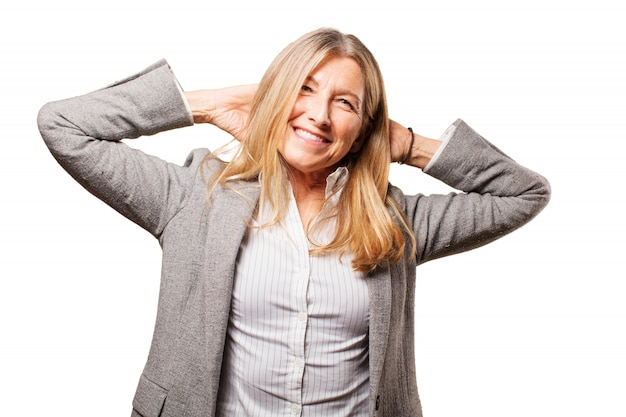 Nowoczesnych ludzi sukcesu smiley biznesmen