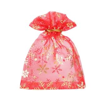 Noworoczna czerwona torba na prezent