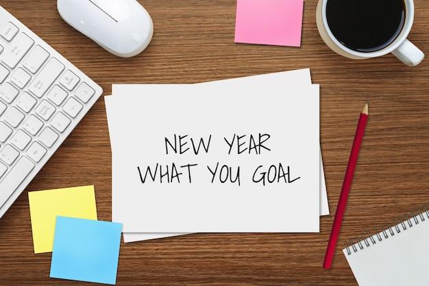 Noworoczna lista celów do 2020 r. ustalanie celów