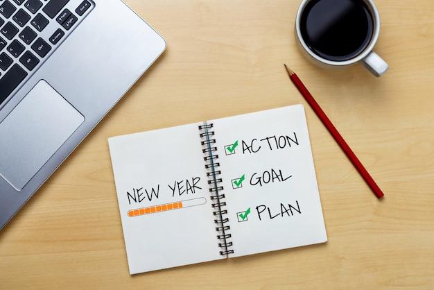Noworoczna lista celów na rok 2020 wyznaczanie celów