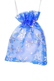 Noworoczna niebieska torba na prezent