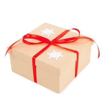 Noworoczne brązowe pudełko na prezent