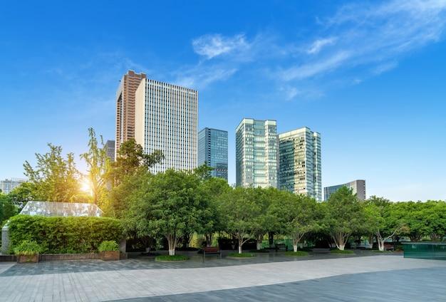 Nowożytni budynki w hangzhou chiny