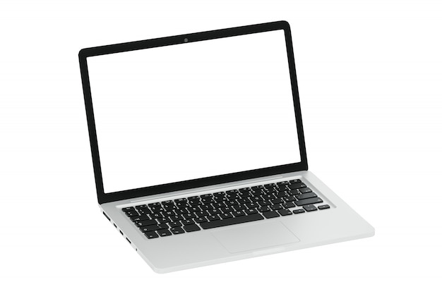 Nowożytny komputerowy laptop na bielu