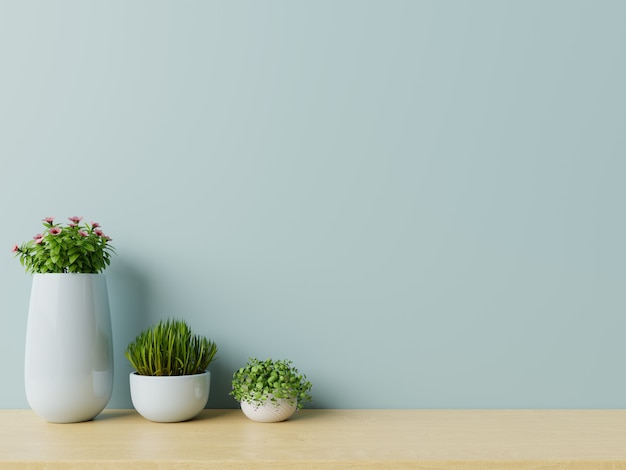 Nowożytny pusty pokój z roślinami na podłogowy drewnianym