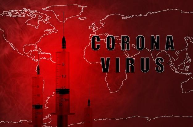 Nowy koronawirus - koncepcja wirusa 2019-ncov, wuhan. epidemia chińskiego koronawirusa. lekarstwo, szczepionka przeciwko wirusowi.