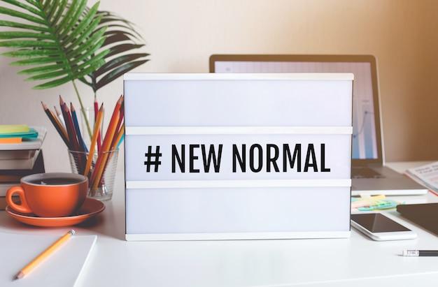Nowy normalny tekst na lightbox