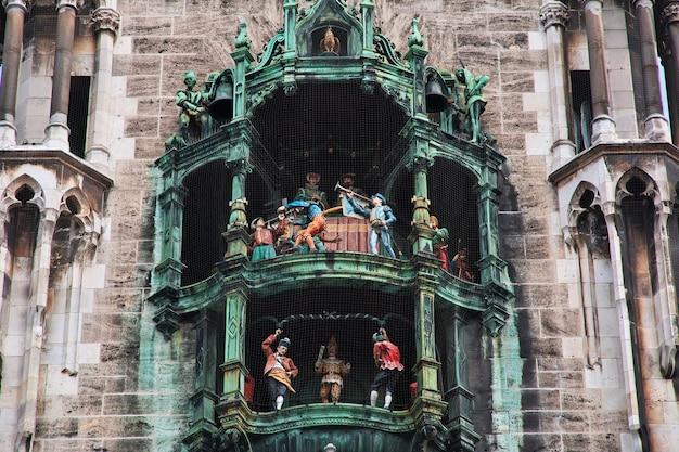 Nowy ratusz, neus rathaus w monachium, niemcy