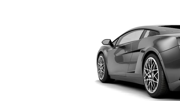 Nowy rodzajowy luksusowy samochód sportowy szczegół ilustracja na białym tle z efektami szumu stylizowane