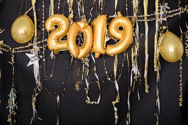 Nowy rok 2019 dekoracja strony
