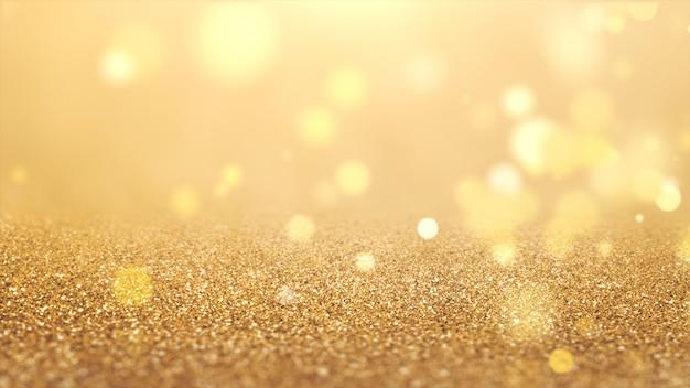 Nowy rok 2020. tło bokeh. światła streszczenie. wesołych świąt bożego narodzenia tło. złoty blask światła. nieostre cząstki. złoty kolor