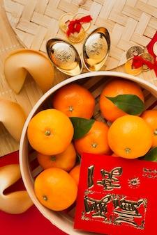 Nowy rok chiński 2021 cytrusowy owoc pomarańczowy