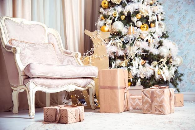 Nowy rok lub świąteczne wnętrze
