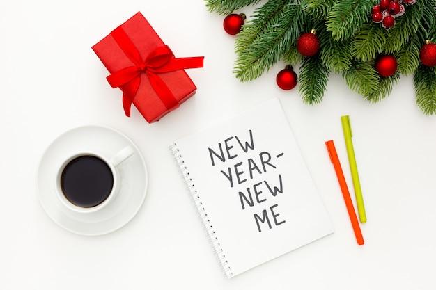 Nowy rok nowa koncepcja inspiracji z dekoracjami świątecznymi