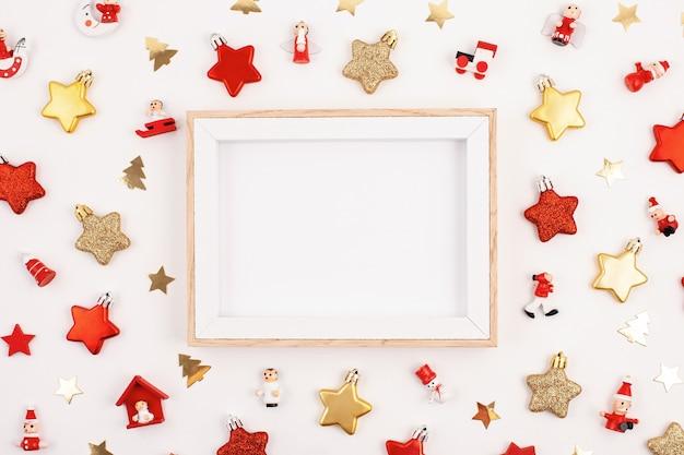 Nowy rok uroczystości i makieta świąteczne