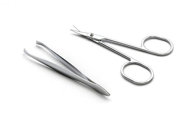 Nożycowy i pincety odizolowywający na biel powierzchni
