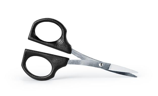 Nożyczki na odosobnionym białym tle