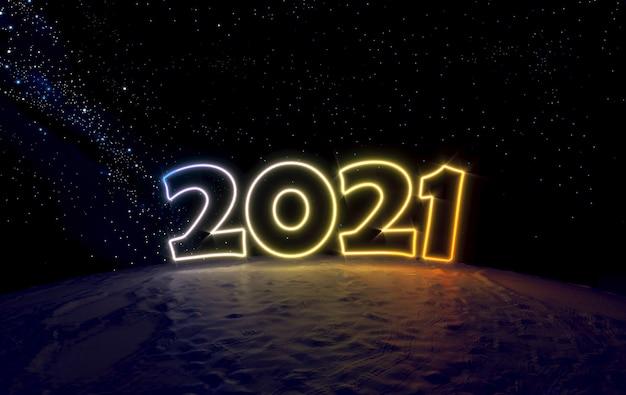 Numer 2021 w kosmosie na małej planecie