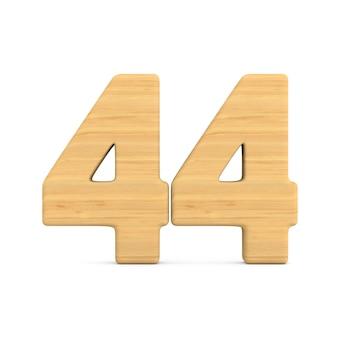 Numer czterdzieści cztery na białym tle