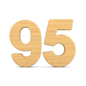 Numer dziewięćdziesiąt pięć na białym tle. ilustracja na białym tle 3d