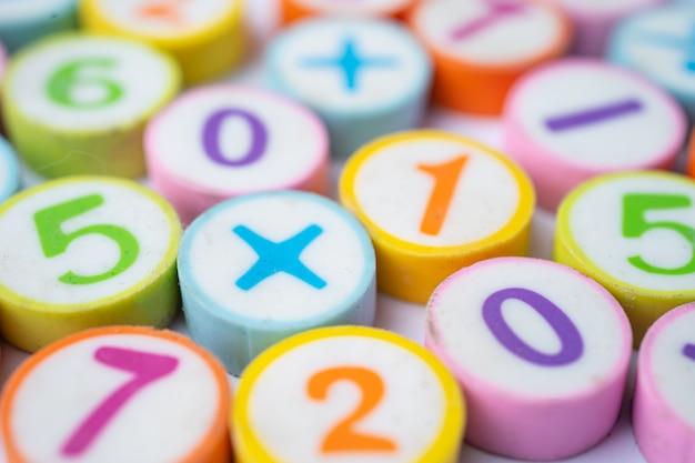 Numer matematyczny kolorowy.