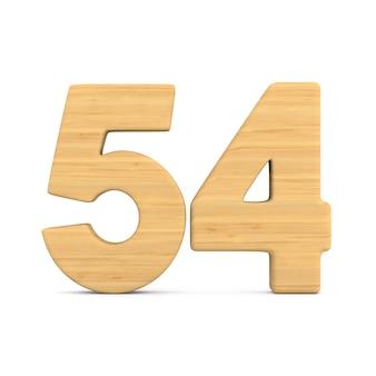 Numer pięćdziesiąt cztery na białym tle.