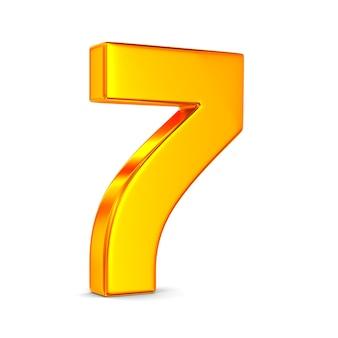 Numer siedem na białym tle